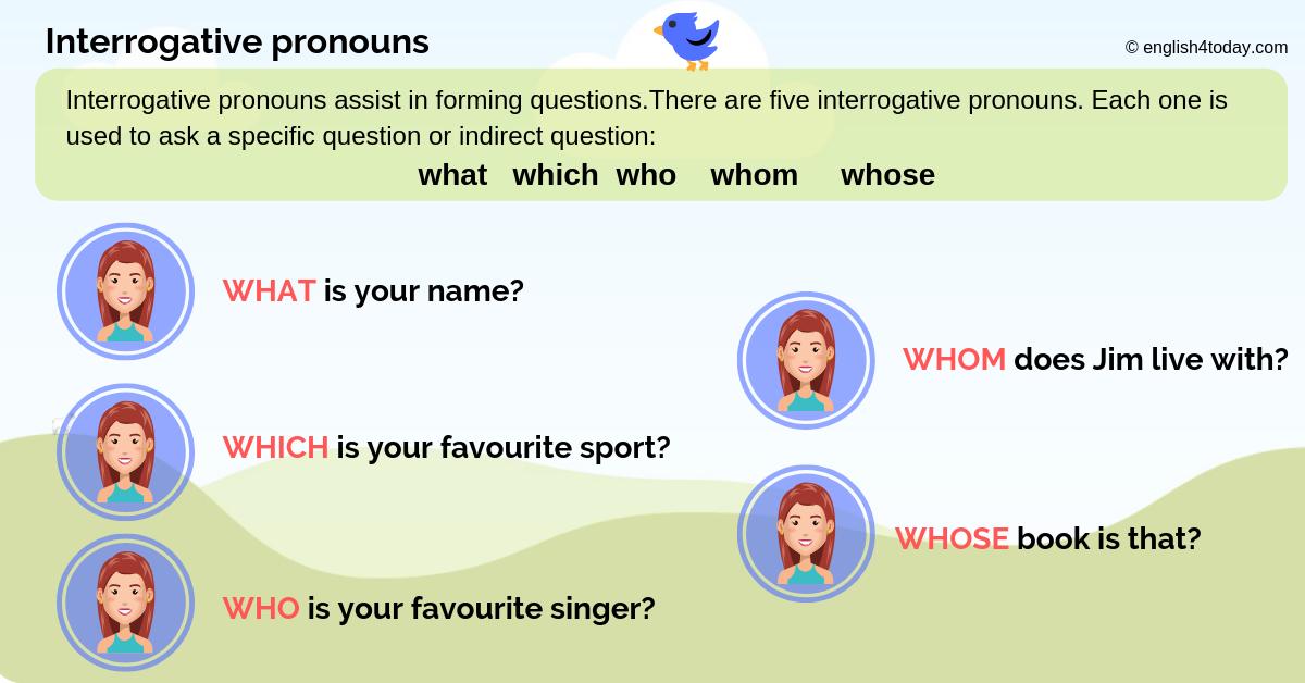 Interrogative pronouns 2