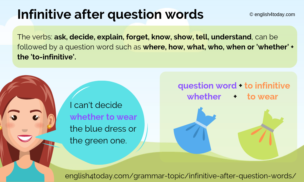 Infinitive after question words 2