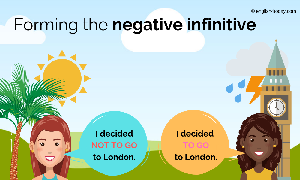 Negative infinitive 2